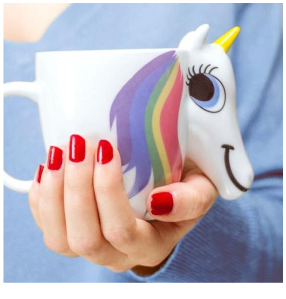 Unicorn Color Changing Mug Coloring Page