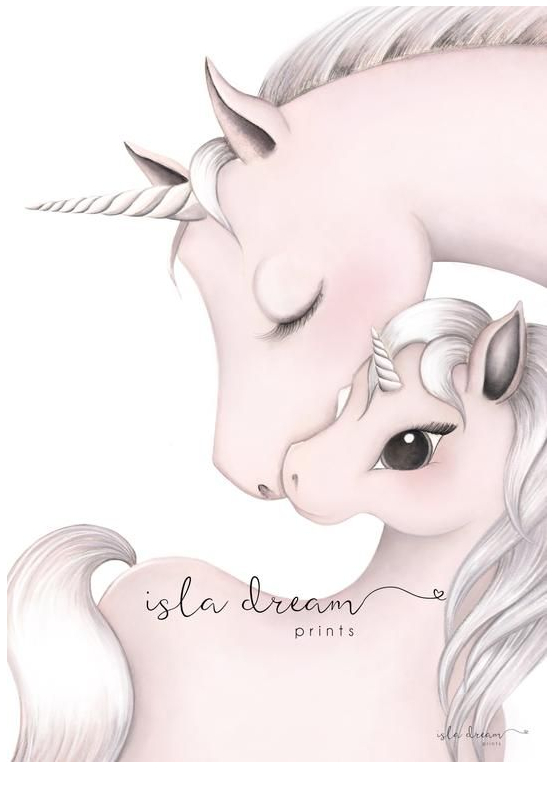 Unicorn Art Print For Kids Australia