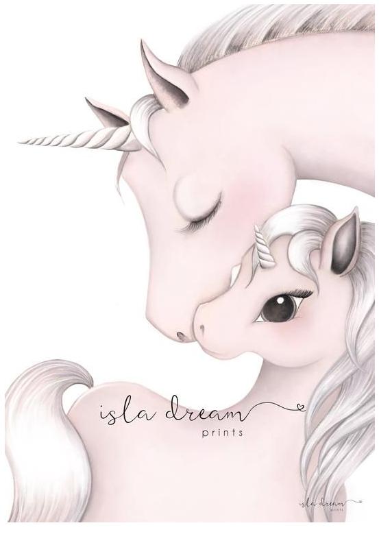 Unicorn Art Print For Kids Australia Coloring Page
