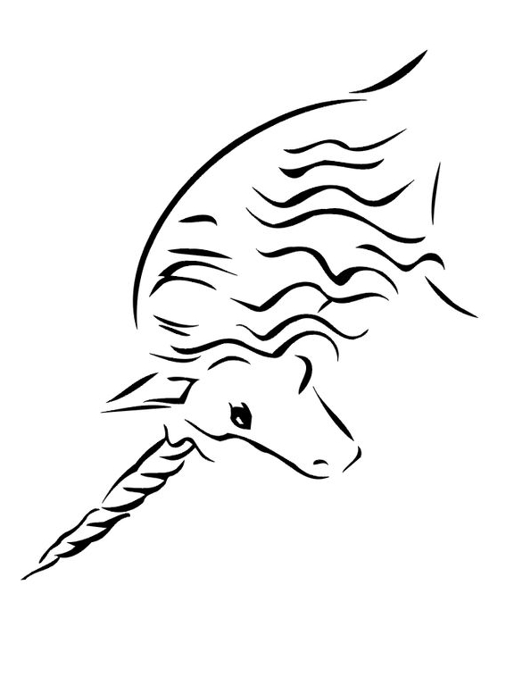 Unicorn Coloring Design Coloring Page