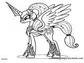 My Little Pony Princess Cadance Character Coloring Page