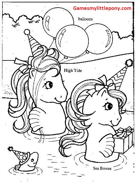Merry Christmas My Little Pony Coloring