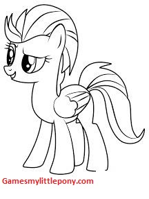 MLP Coloring Lightning Dust Coloring Page