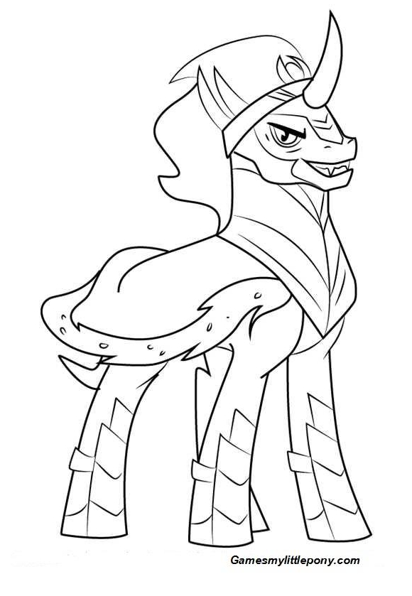 MLp Coloring King Sombra Coloring Page