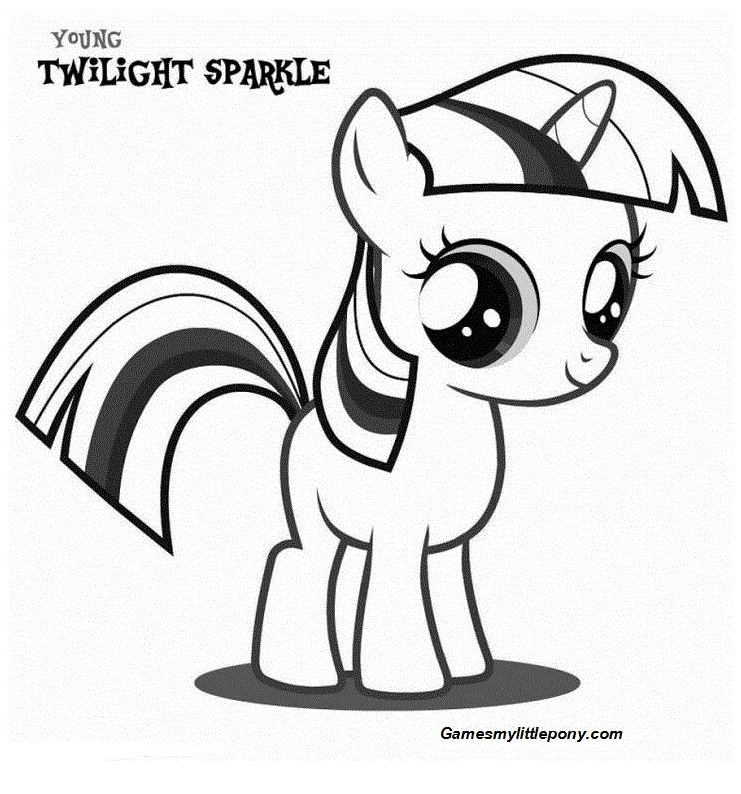 Coloring book My Little Pony: Twilight Sparkle Coloring Page