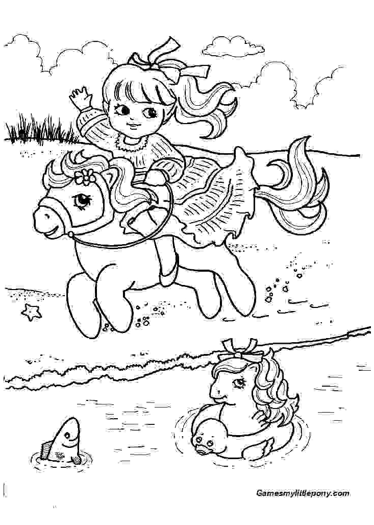 Near The Lake  from My Little Pony Coloring Page