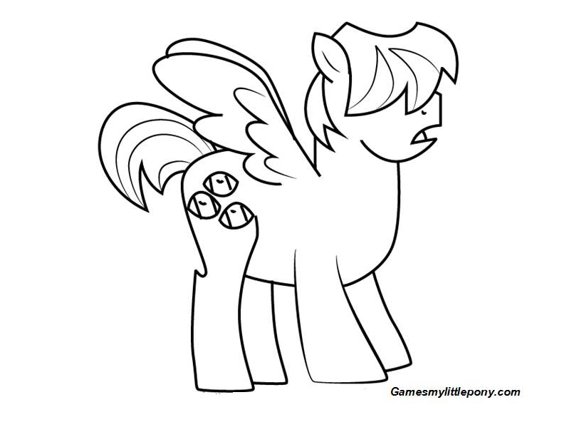 MLP Coloring Boy Bullies Coloring Page