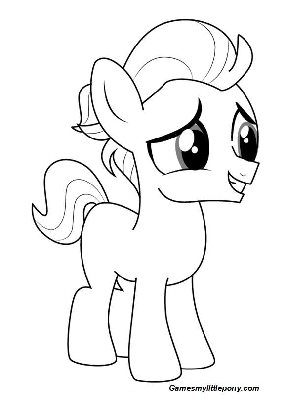 Mlp Coloring Tender Taps Coloring Page