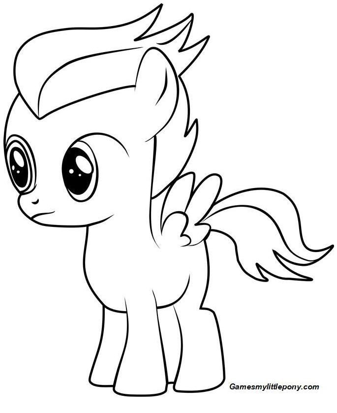 MLP Coloring Rumble Coloring Page