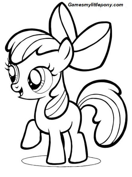 My Little Pony Apple Bloom Coloring Coloring Page