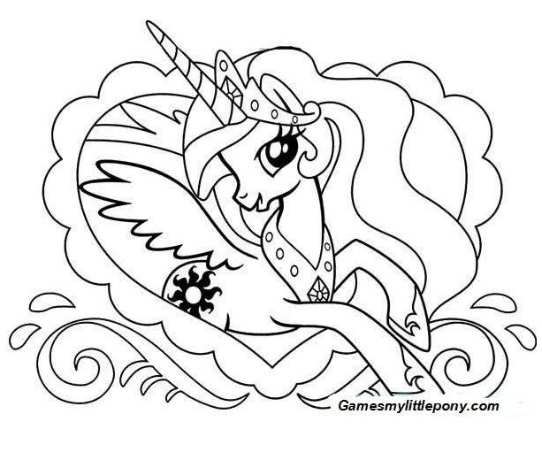 My Little Pony Celestia Coloring