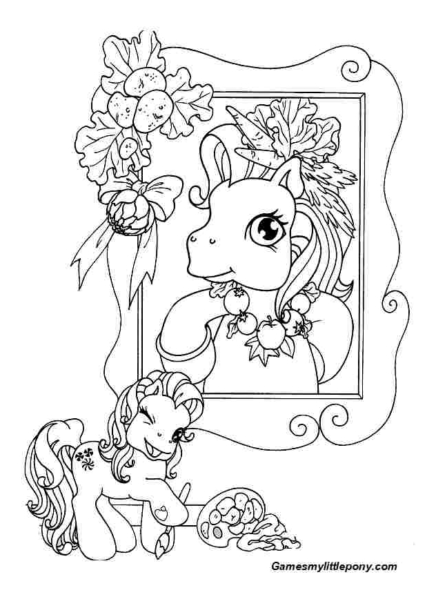 Picture of Pony In Frame  from My Little Pony Coloring Page