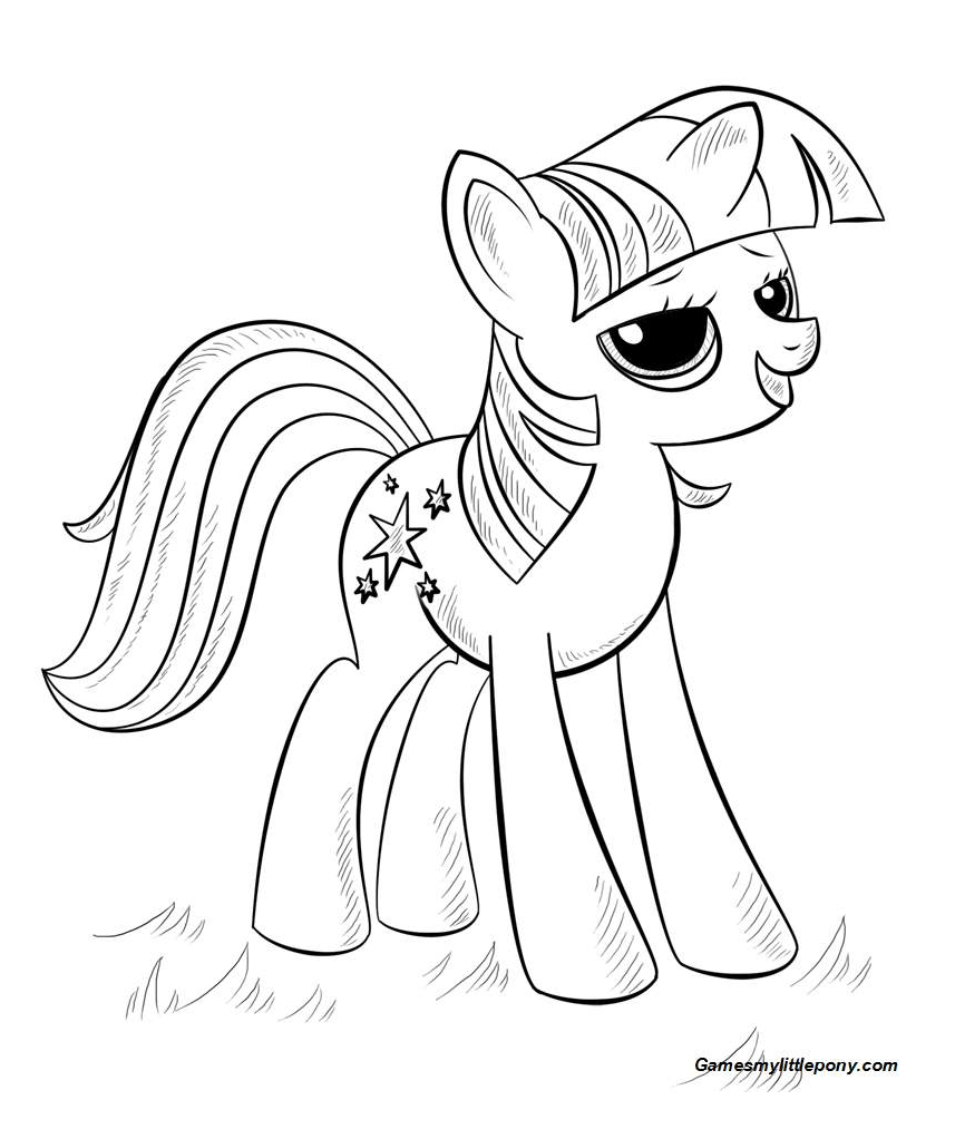 Princess Alicorn from My Little Pony Coloring Page