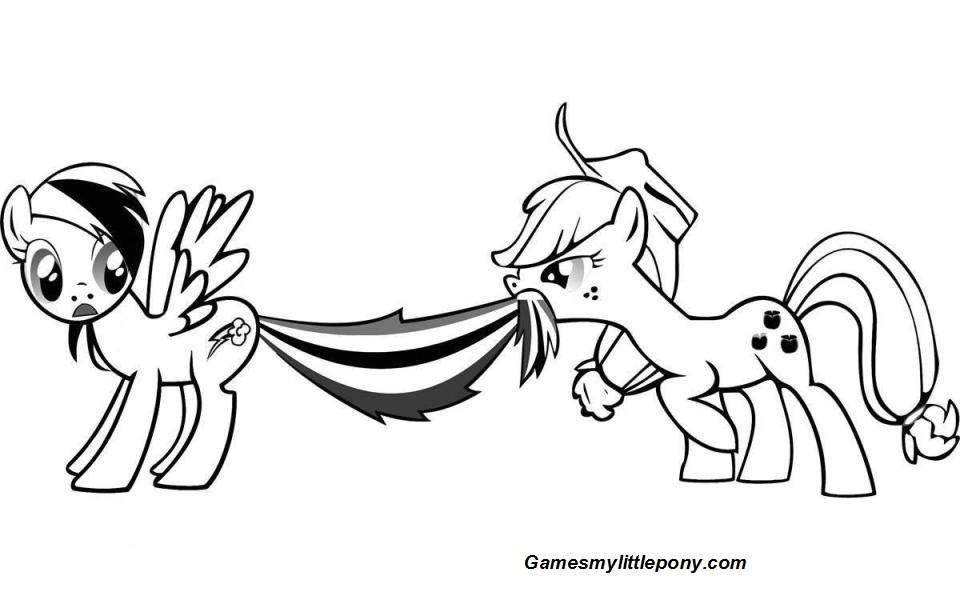Funny Rainbow Dash and Applejack