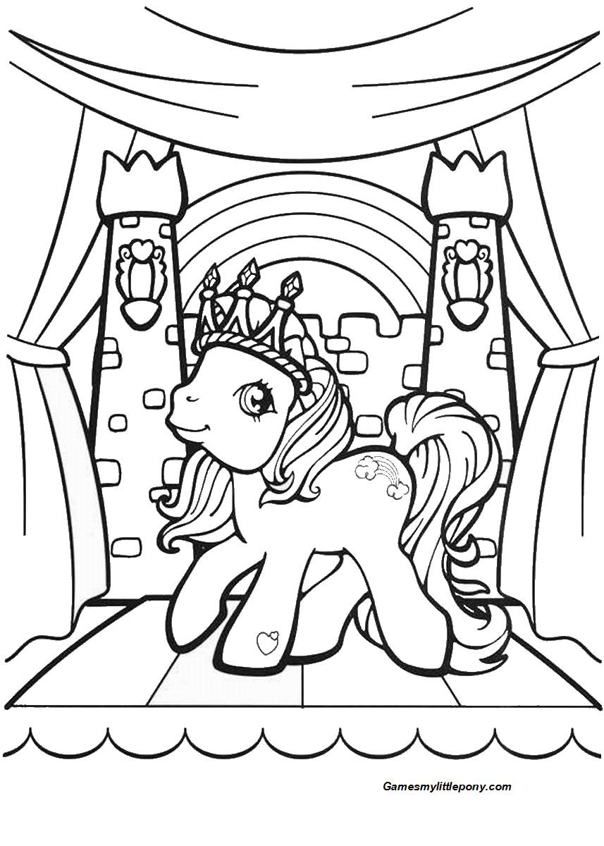 Pony's Place Coloring Page