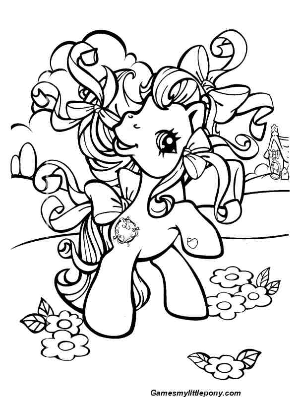 Spring with My Little Pony Coloring Page