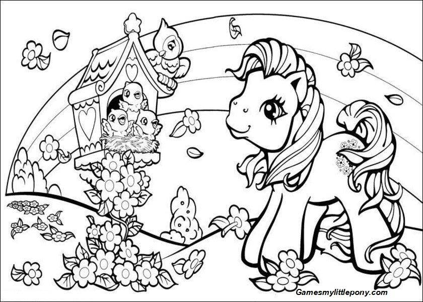 Flower Garden with My Little Pony