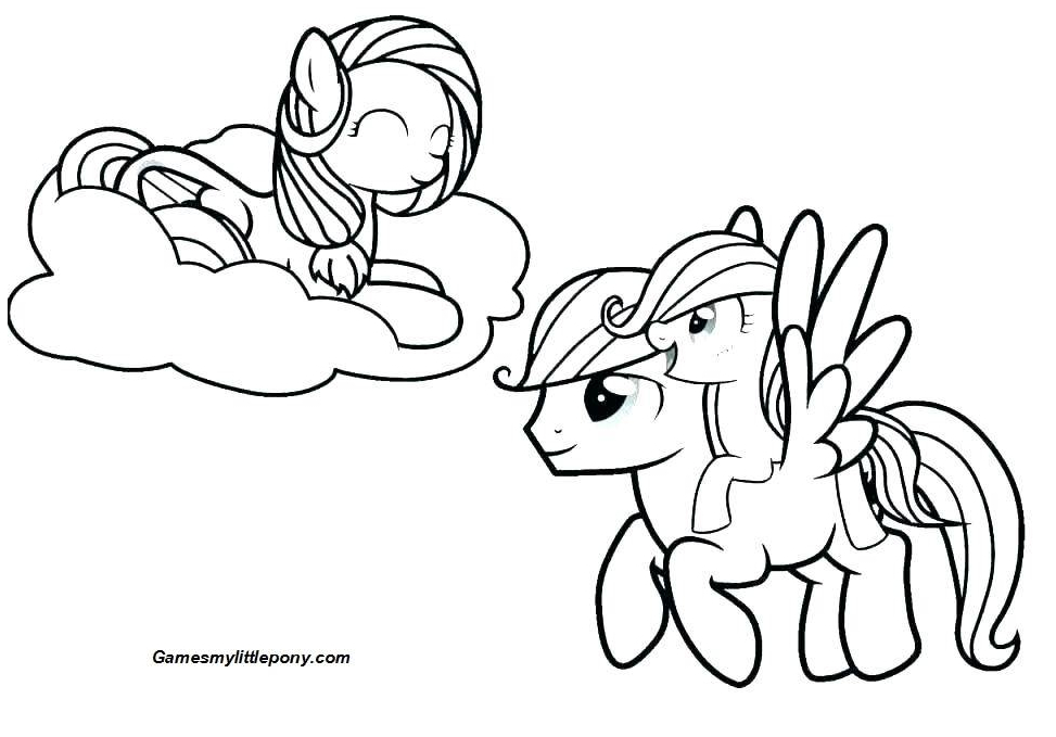 My Little Pony Friendship Funny Coloring Page