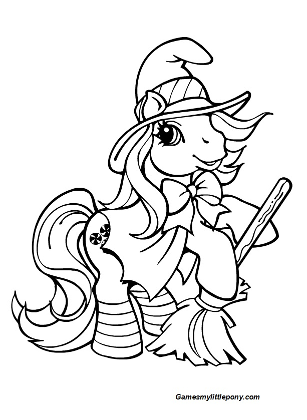 Halloween Braeburn Pony Coloring Page