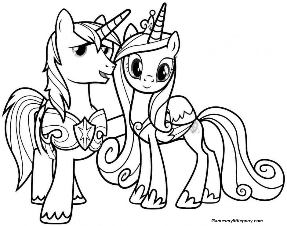 MLP Friendship on Halloween Coloring Page