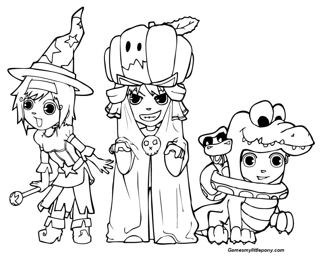 MLP Halloween Holiday Coloring Page