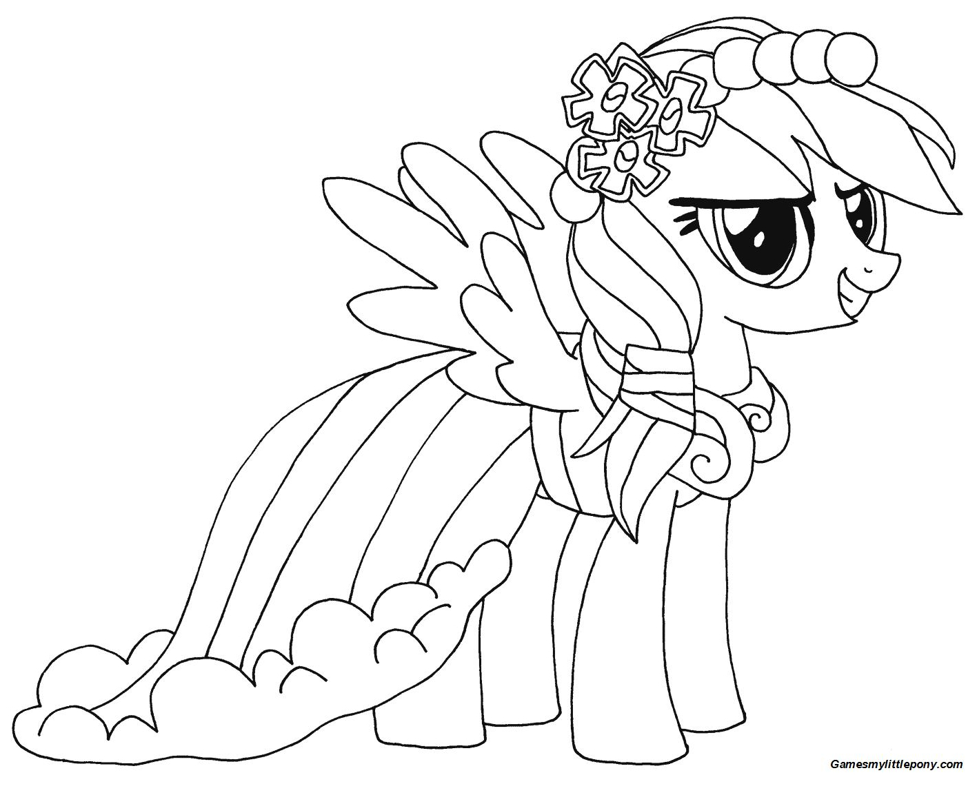 Rainbow Dash from My Little Pony Coloring Page