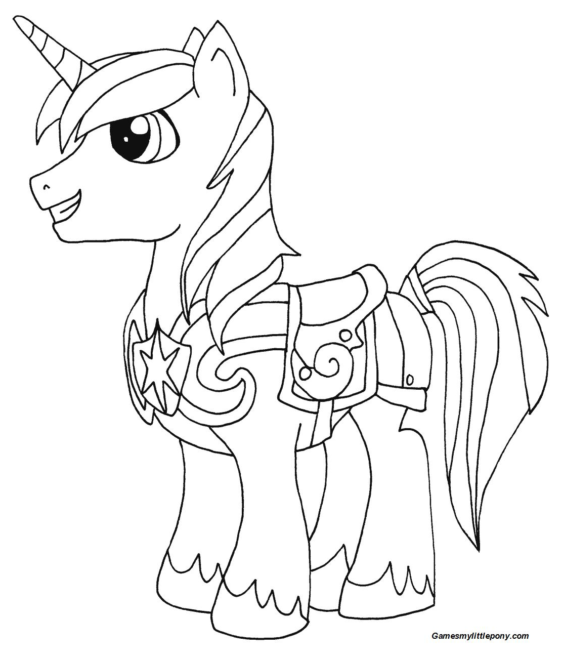 Shining Armor from My Little Pony Coloring Page