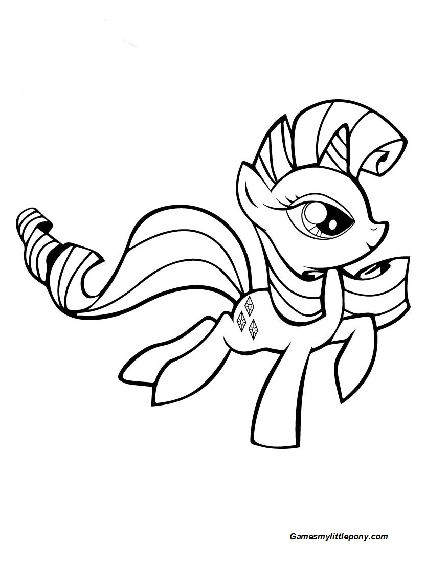 My Little Pony Rarity Runs Coloring Page