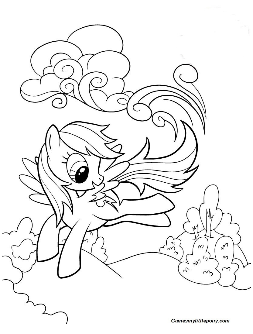 My Little Pony Rainbow Dash Happy Coloring Page