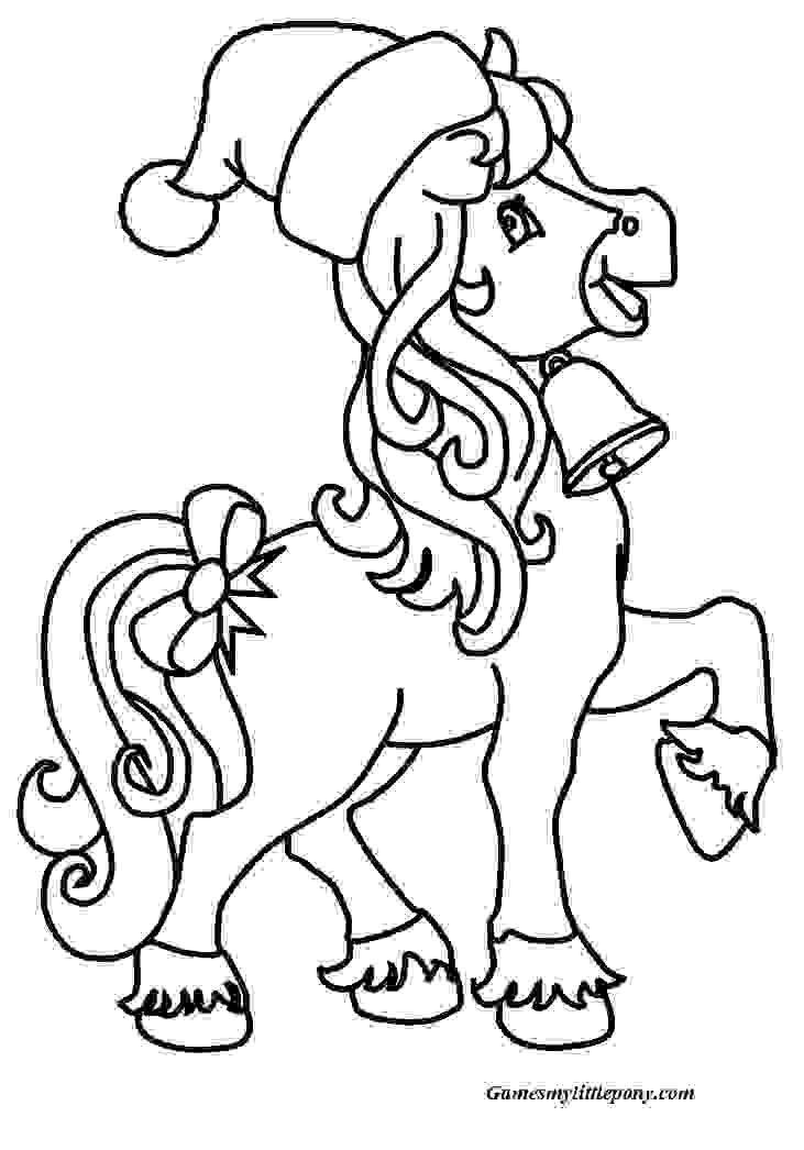 Pony Coloring Christmas Coloring Page