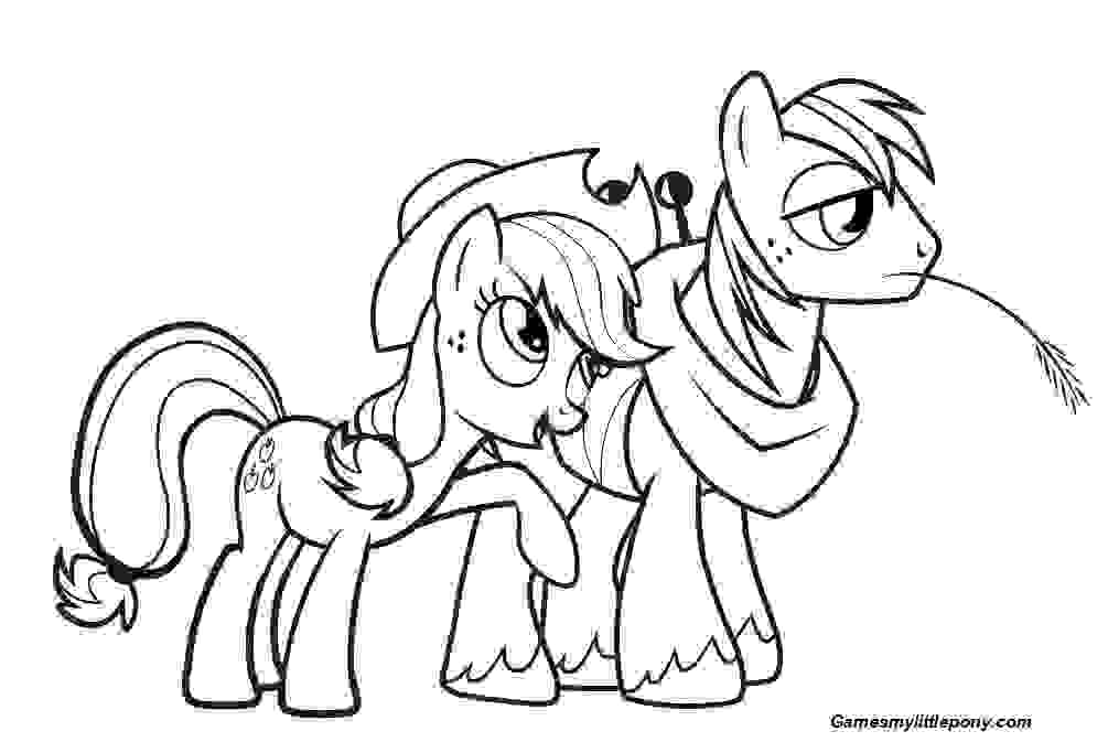 My Little Pony Christmas Coloring Page