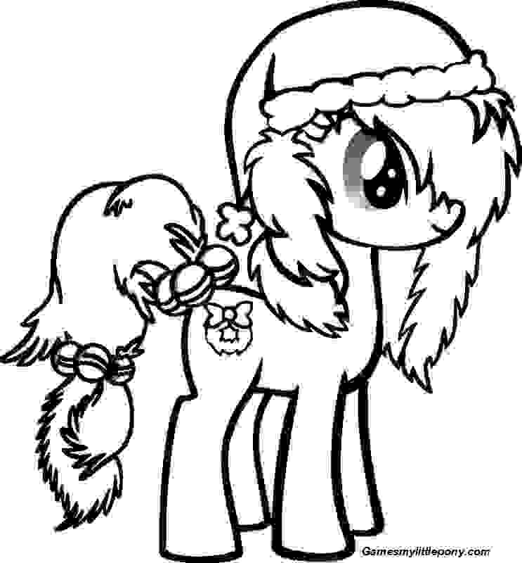 Pony Christmas Coloring Page