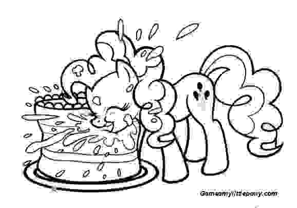 Happy Birthday My Little Pony Coloring Page