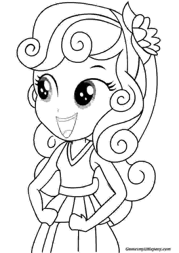 Pinkie Pie Pony Equestria Coloring Page