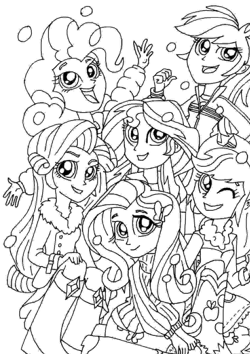 My Little Pony Equestria Girl Christmas Coloring Pages Coloring Page