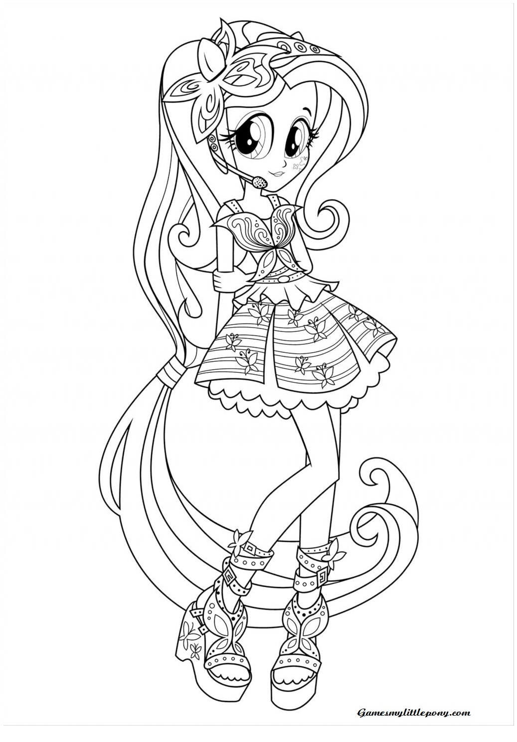 Rainbow Dash Equestria Girl Coloring Page