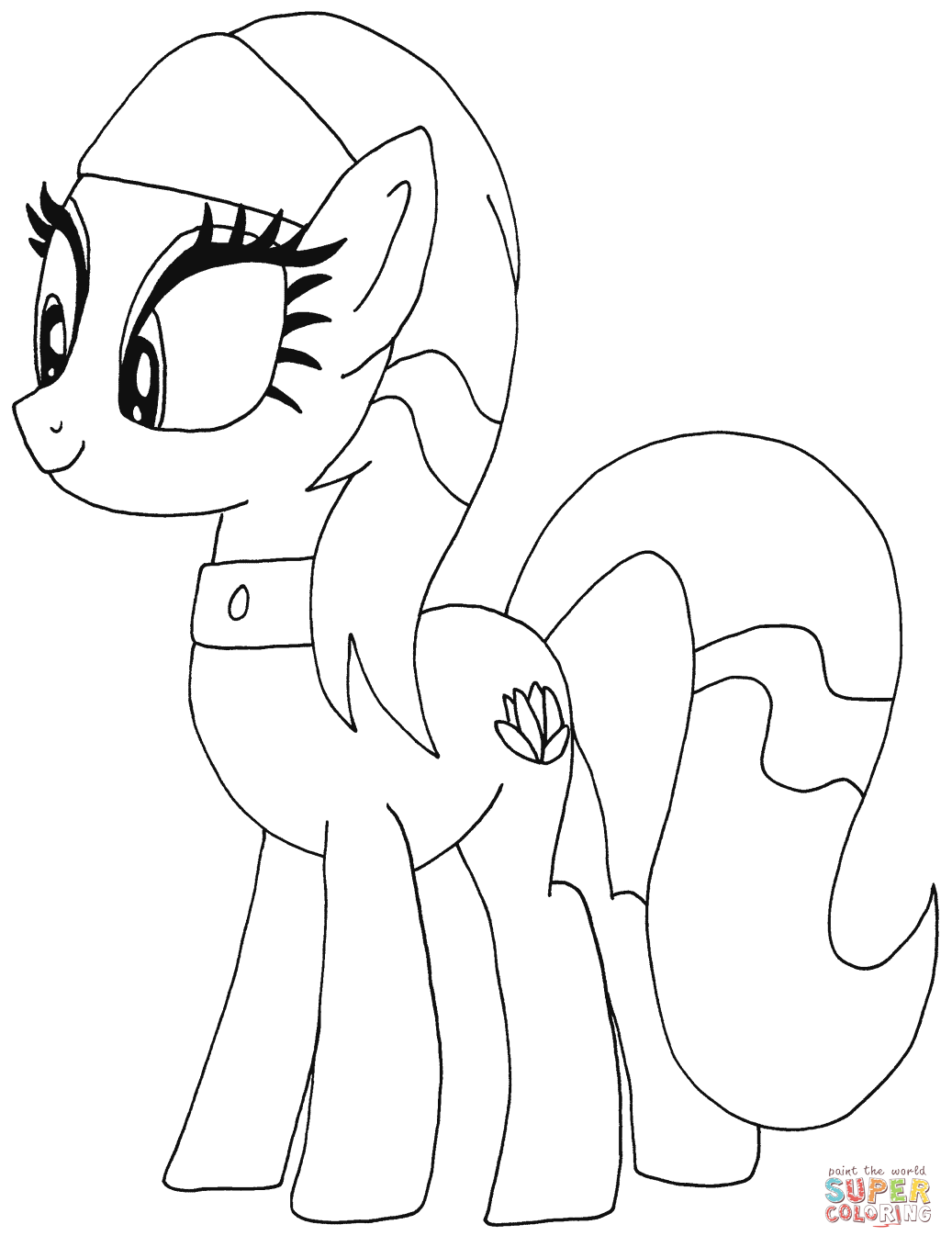 Lotus Blossom My Little Pony from My Little Pony Coloring Page