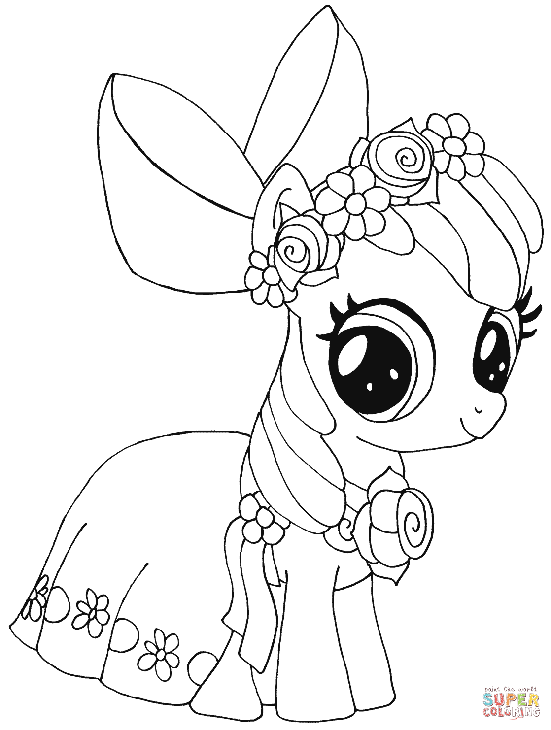 My Little Pony Names Coloring Pages : My little pony apple bloom from coloring