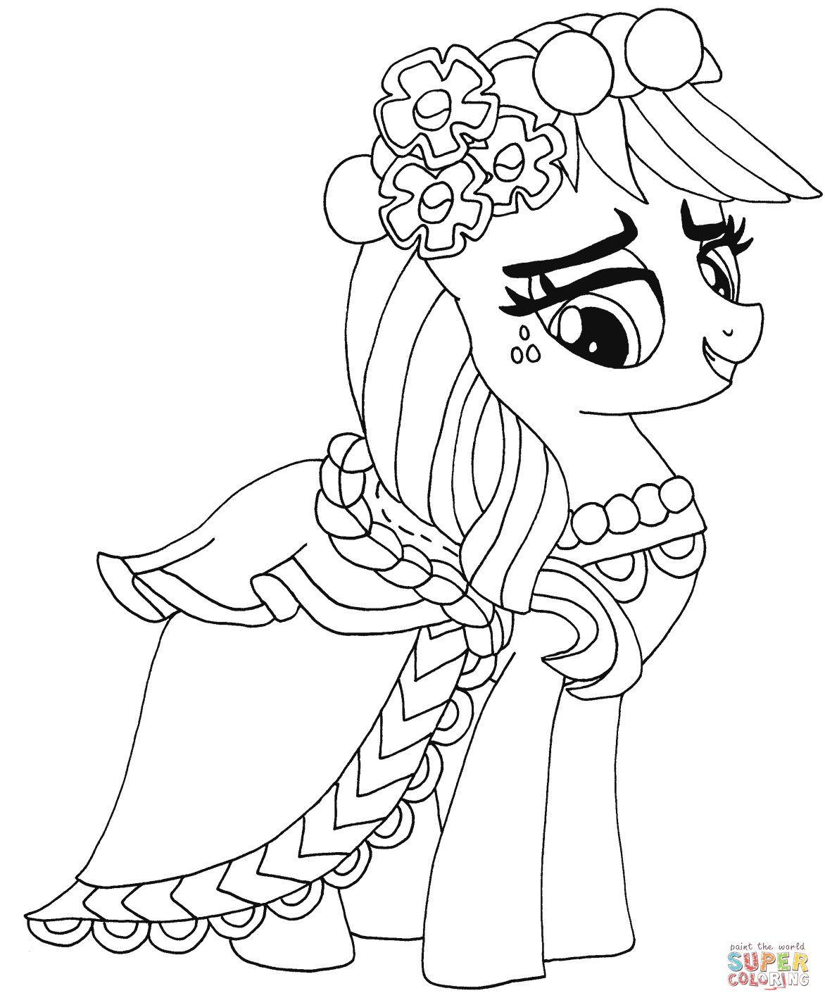 my little pony princess luna dress up coloring page my little
