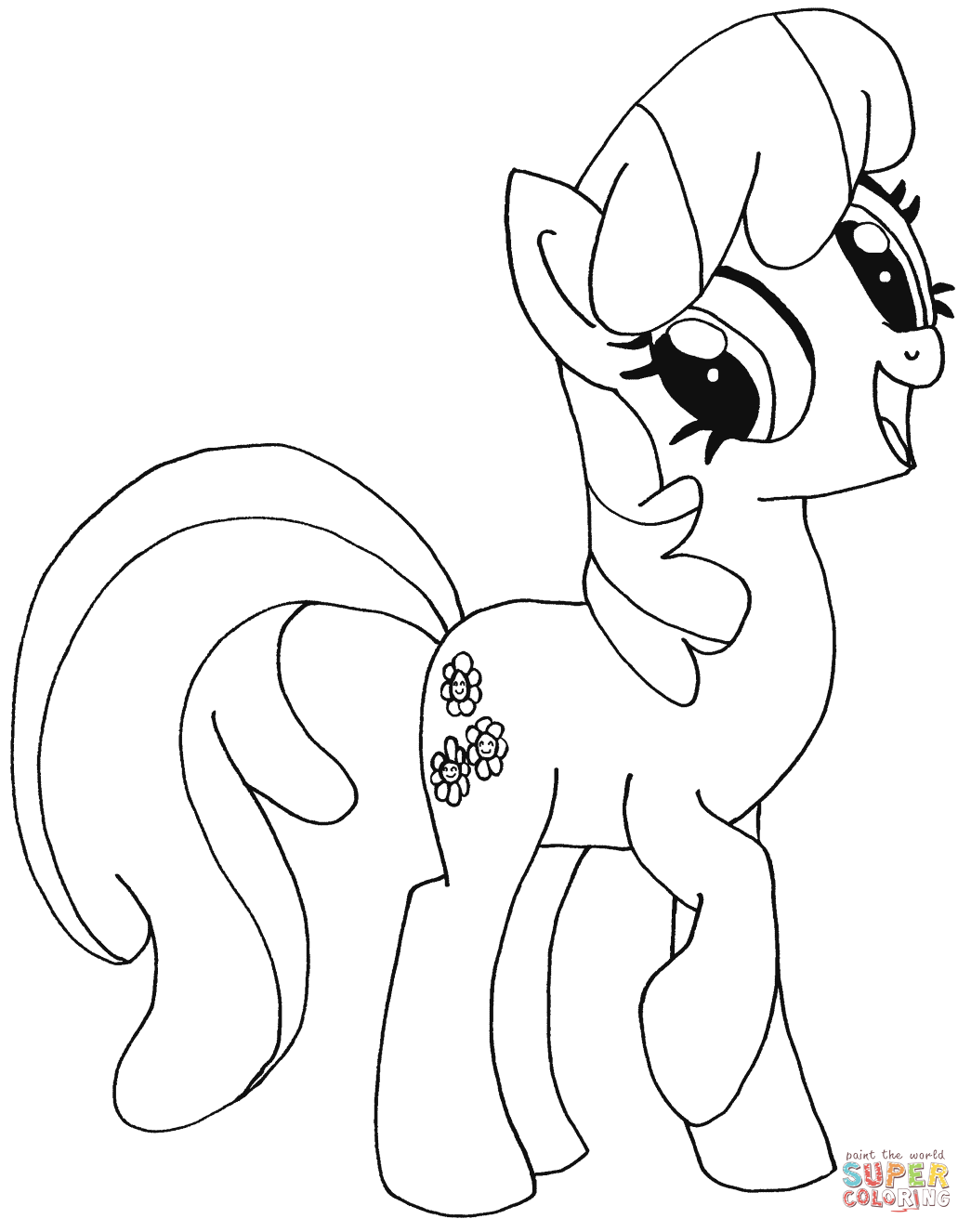 my little pony with crown coloring page my little pony coloring