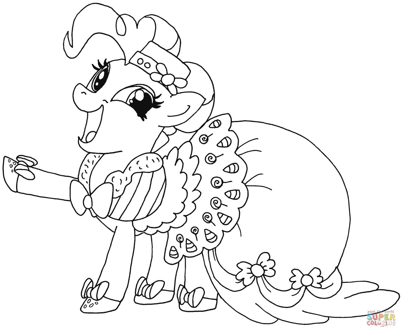 Fluttershy Pony Coloring Coloring Page My Little Pony Coloring Pages