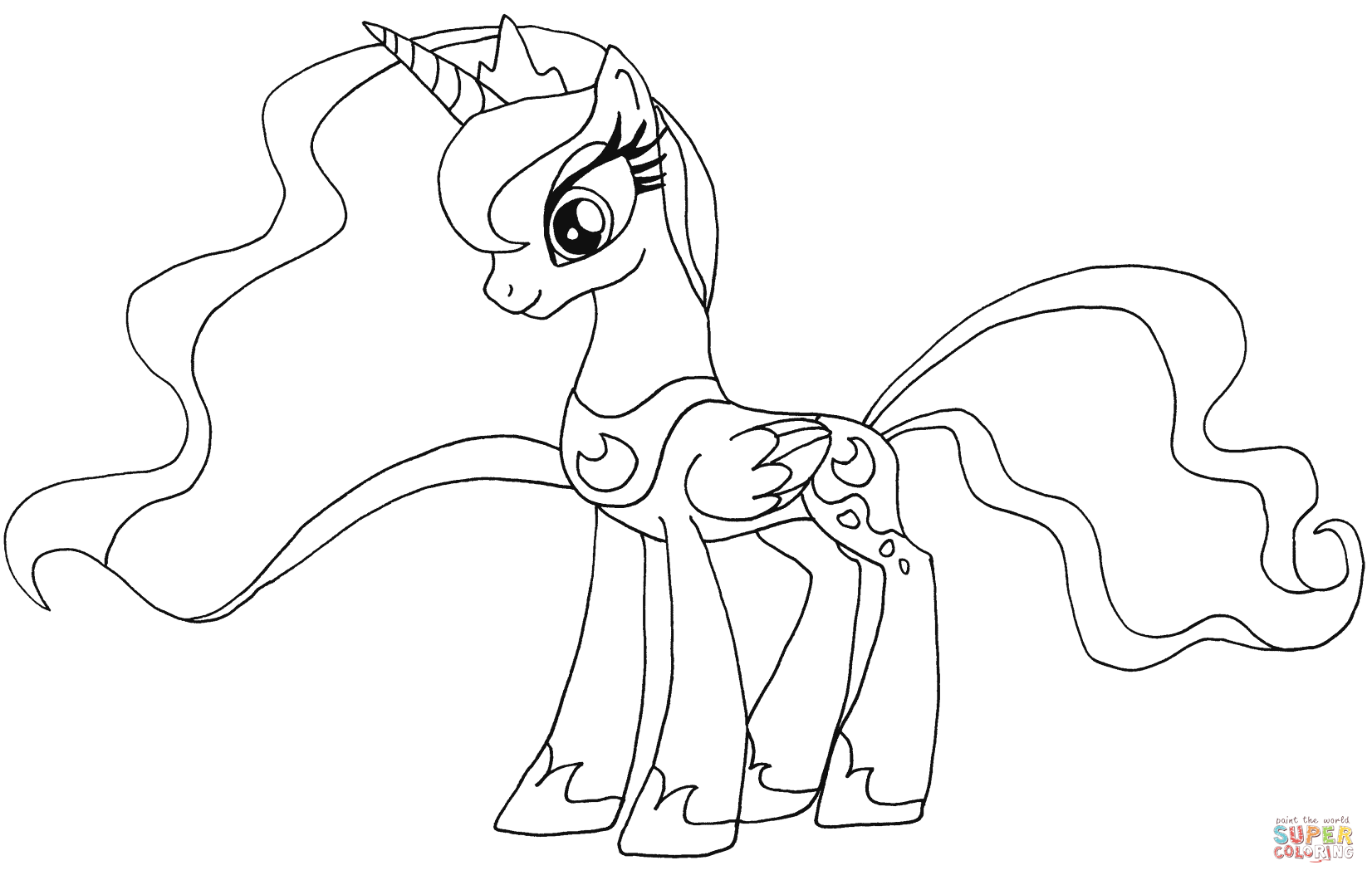 Hard My Little Pony Coloring Pages : My little pony princess sunset shimmer coloring page