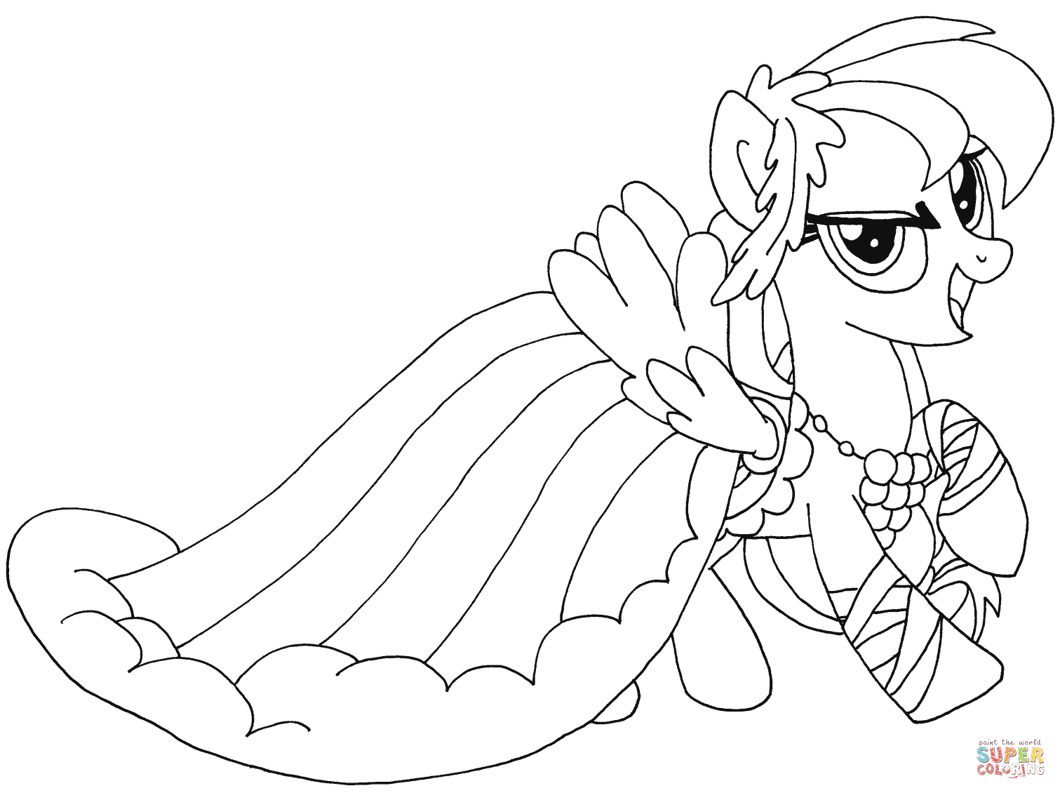 cowboy pony from my little pony coloring page my little pony