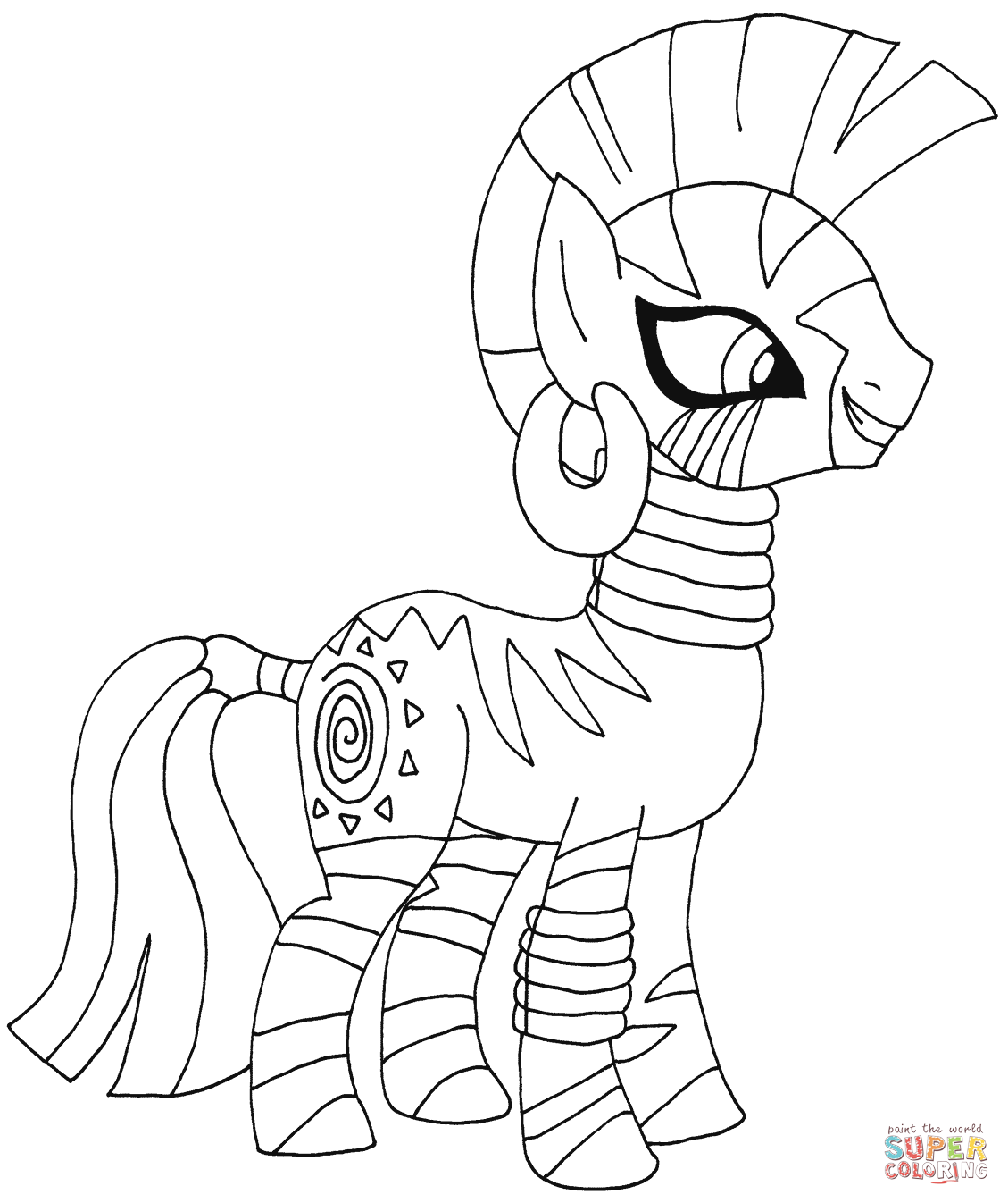 Mobile shimmer and shine coloring games coloring pages ausmalbilder - My Little Pony Zecora From My Little Pony My Little Pony Sweetie Belle From My Little Pony Coloring Page