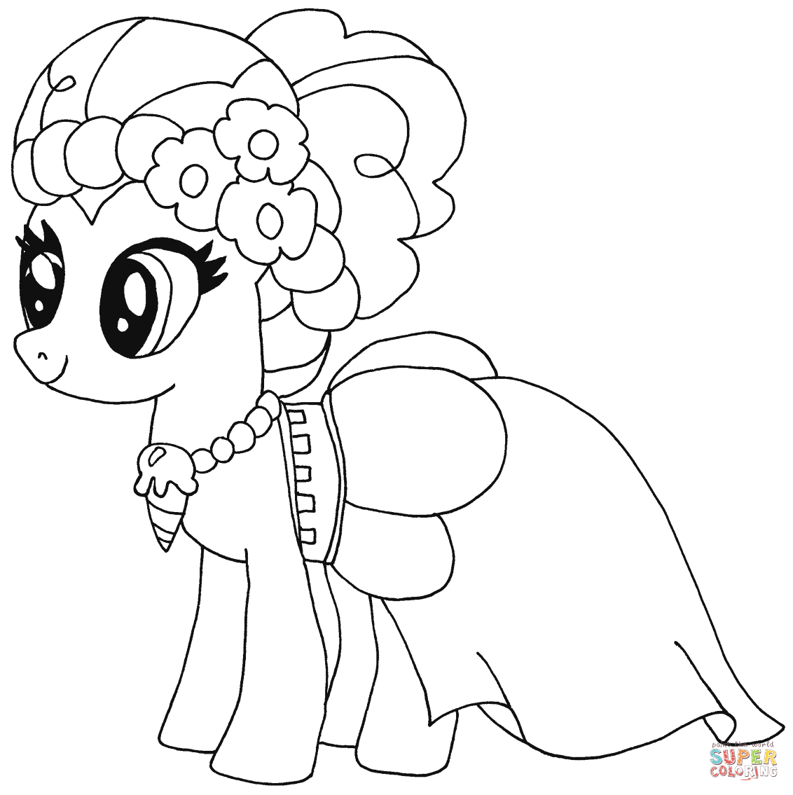 my little pony gabby rested coloring page my little pony