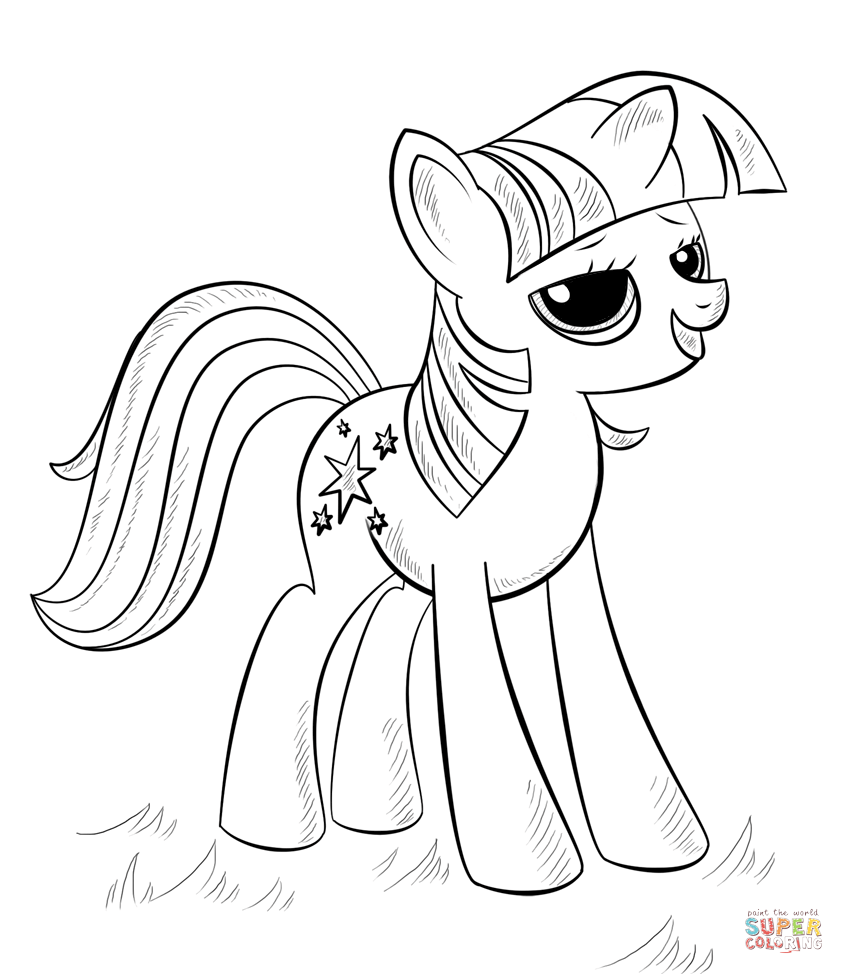 Ausmalbilder My Little Pony Equestria : Princess Alicorn From My Little Pony Coloring Page My Little Pony