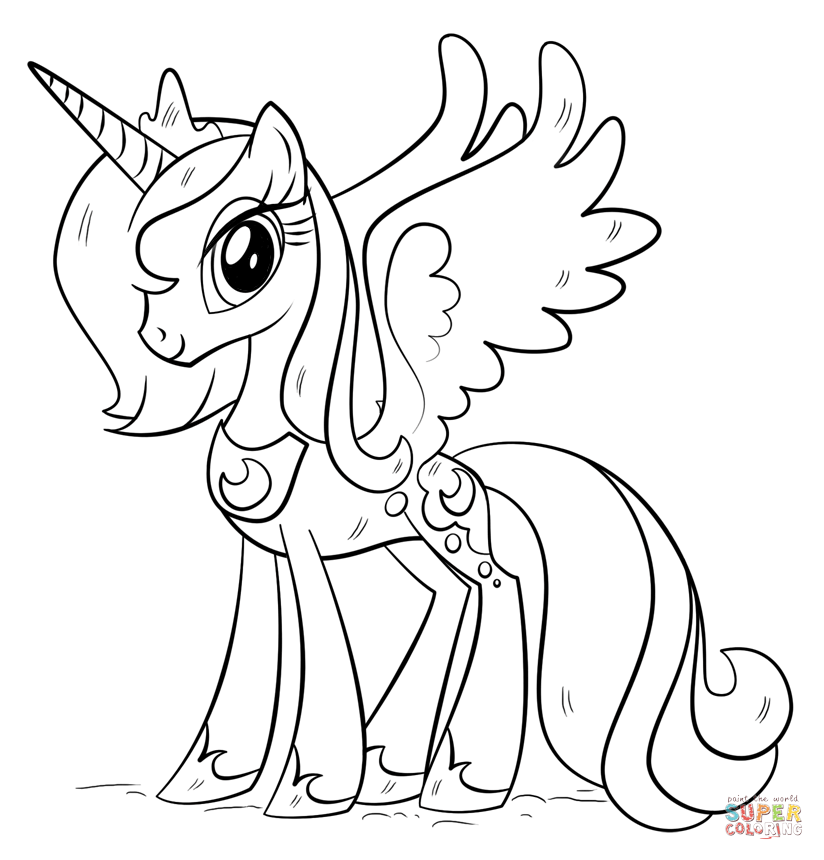Princess Luna from My Little Pony Coloring Page