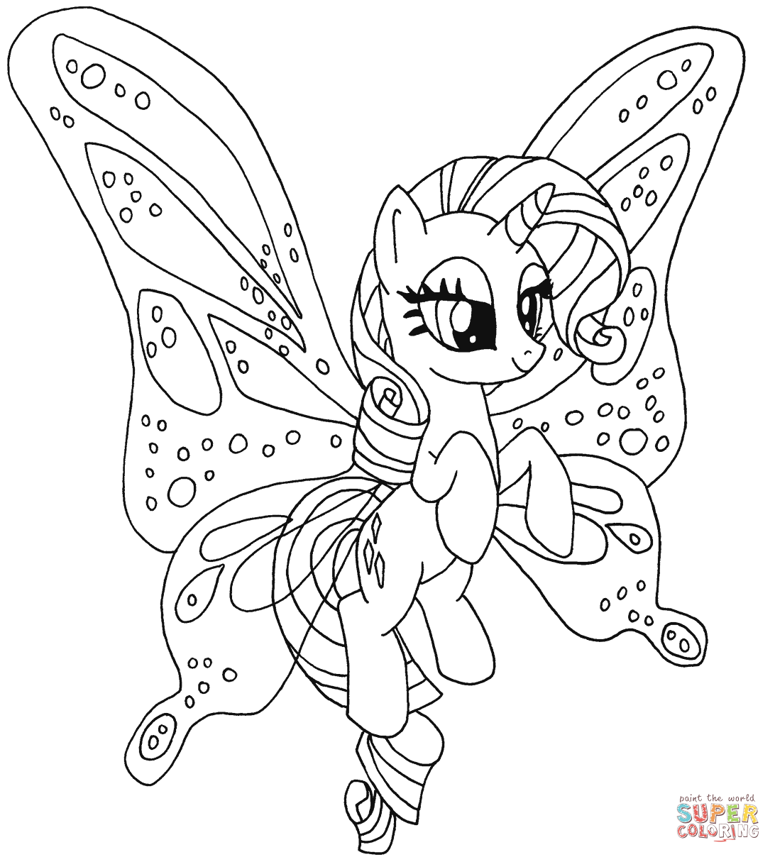 Rarity Pony from My Little Pony Coloring Page