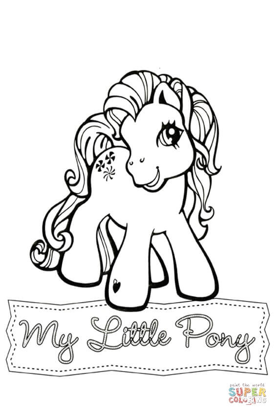 My Little Pony Sweetberry from My Little Pony Coloring Page