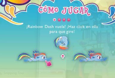 My Little Pony Rainbow Dash Equestria Race Game